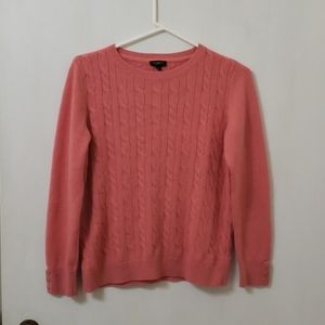Talbots petite cable knit sweater